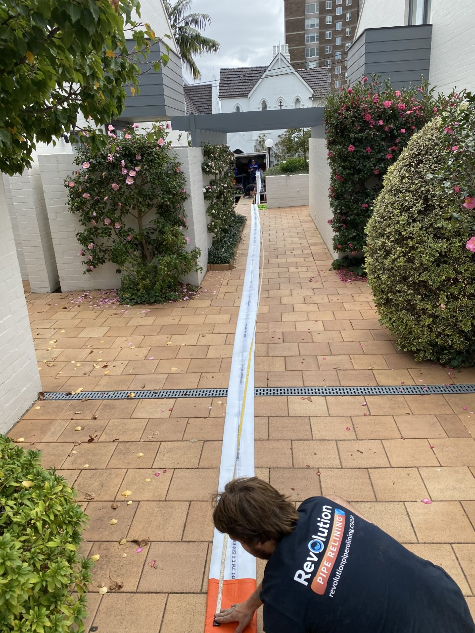 Measuring liner for pipe relining image by Revolutionpiperelining.com.au